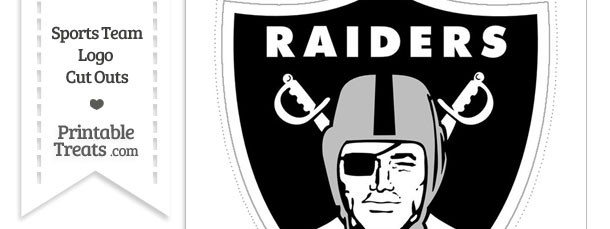 Large Oakland Raiders Logo Cut Out