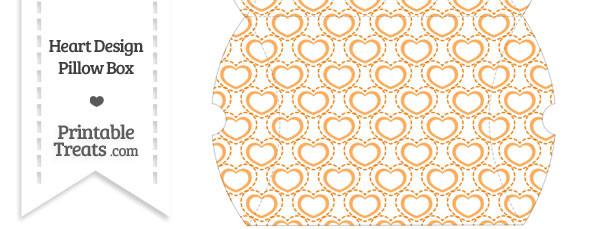 Large Orange Heart Design Pillow Box