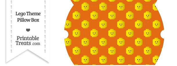 Large Orange Lego Theme Pillow Box