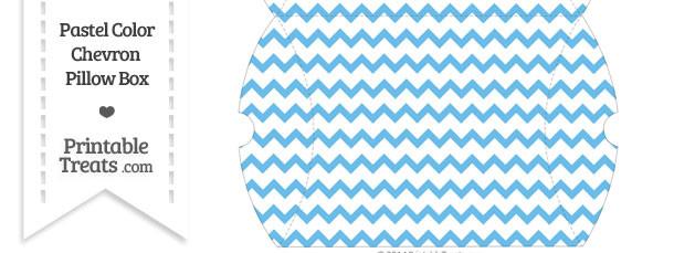 Large Pastel Blue Chevron Pillow Box