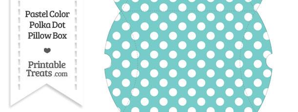 Large Pastel Blue Green Polka Dot Pillow Box