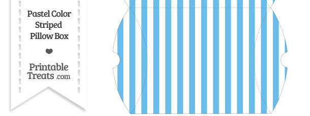Large Pastel Blue Striped Pillow Box
