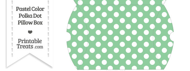Large Pastel Green Polka Dot Pillow Box