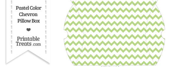 Large Pastel Light Green Chevron Pillow Box