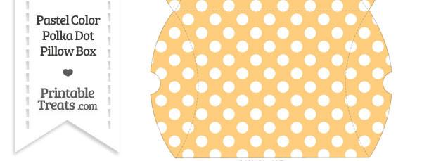 Large Pastel Light Orange Polka Dot Pillow Box