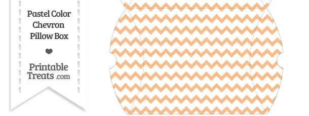 Large Pastel Orange Chevron Pillow Box