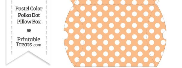 Large Pastel Orange Polka Dot Pillow Box
