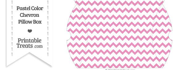 Large Pastel Pink Chevron Pillow Box