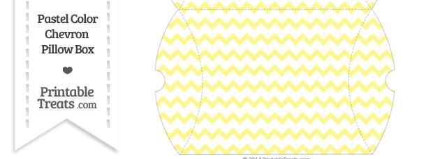 Large Pastel Yellow Chevron Pillow Box