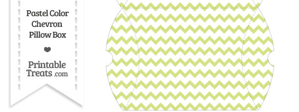 Large Pastel Yellow Green Chevron Pillow Box
