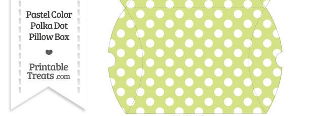 Large Pastel Yellow Green Polka Dot Pillow Box