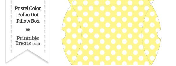 Large Pastel Yellow Polka Dot Pillow Box