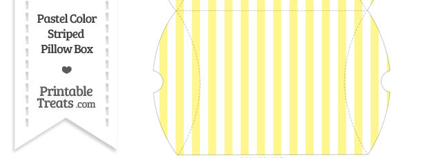 Large Pastel Yellow Striped Pillow Box