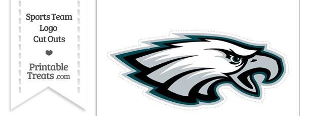 Large Philadelphia Eagles Logo Cut Out