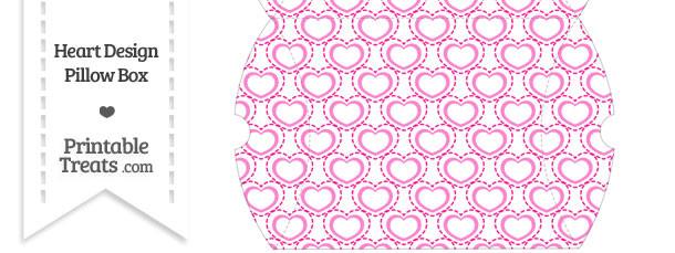 Large Pink Heart Design Pillow Box