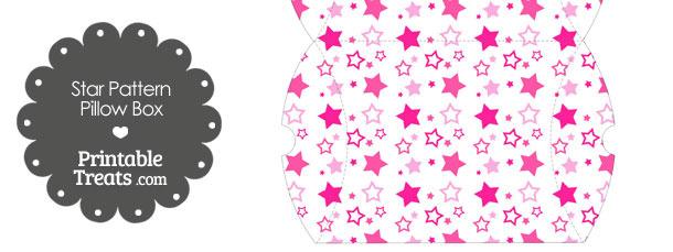 Large Pink Star Pattern Pillow Box
