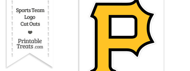 Large Pittsburgh Pirates Logo Cut Out
