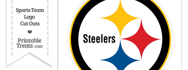 Large Pittsburgh Steelers Logo Cut Out