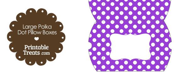 Large Purple and White Polka Dot Pillow Box