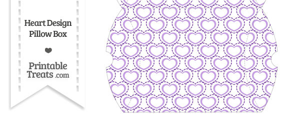 Large Purple Heart Design Pillow Box