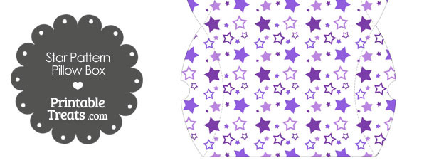 Large Purple Star Pattern Pillow Box
