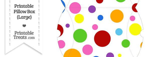 Large Rainbow Dots Pillow Box