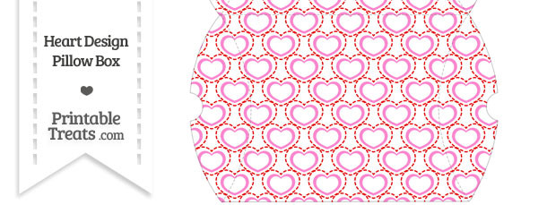 Large Red and Pink Heart Design Pillow Box