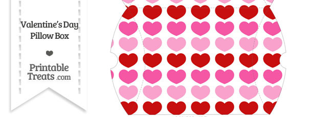 Large Red and Pink Hearts Pillow Box