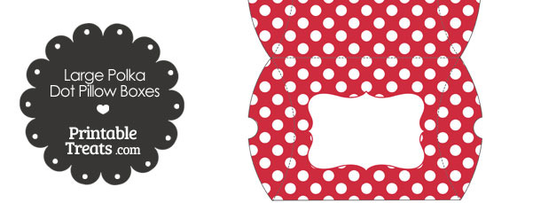Large Red and White Polka Dot Pillow Boxes