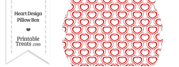 Large Red Heart Design Pillow Box