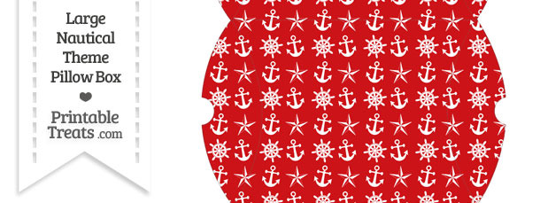 Large Red Nautical Pillow Box