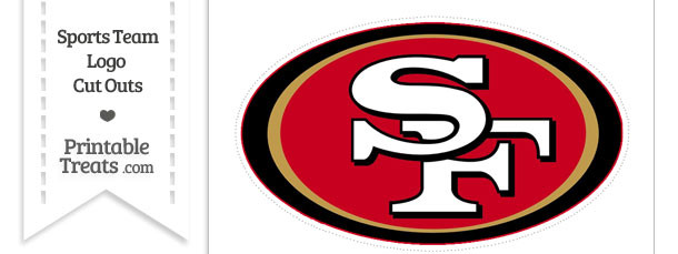 Large San Francisco 49ers Logo Cut Out