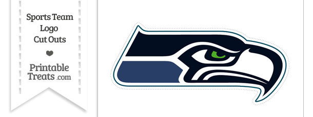 Large Seattle Seahawks Logo Cut Out