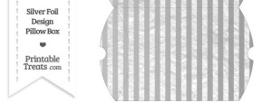 Large Silver Foil Stripes Pillow Box