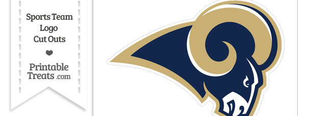 Large St Louis Rams Logo Cut Out