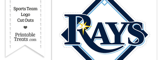 Large Tampa Bay Rays Logo Cut Out