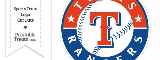 Large Texas Rangers Logo Cut Out
