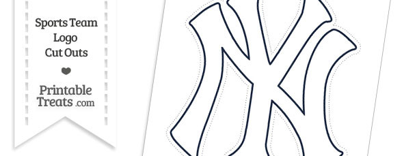 Large White New York Yankees Logo Cut Out