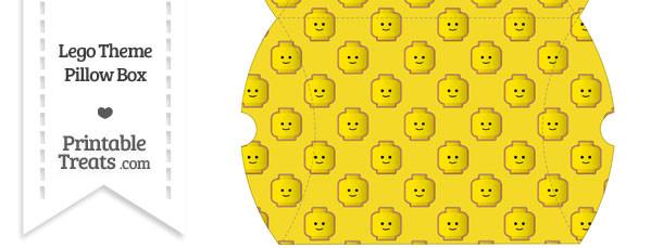 Large Yellow Lego Theme Pillow Box