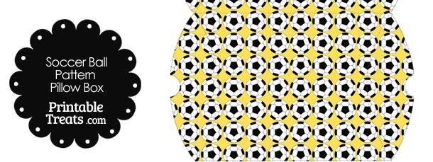 Large Yellow Soccer Ball Pattern Pillow Box