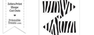 Large Zebra Print Arrow Cut Outs