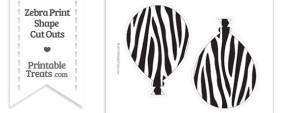 Large Zebra Print Balloon Cut Outs