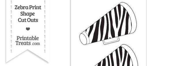 Large Zebra Print Cheer Megaphone Cut Outs