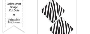 Large Zebra Print Diamond Cut Outs