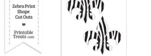 Large Zebra Print Fleur de Lis Cut Outs
