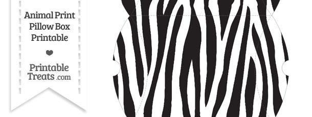 Large Zebra Print Pillow Box