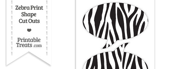 Large Zebra Print Speech Bubble Cut Outs