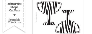 Large Zebra Print Trophy Cut Out
