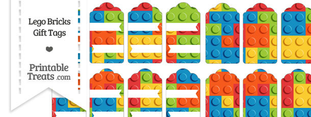 Lego Bricks Gift Tags