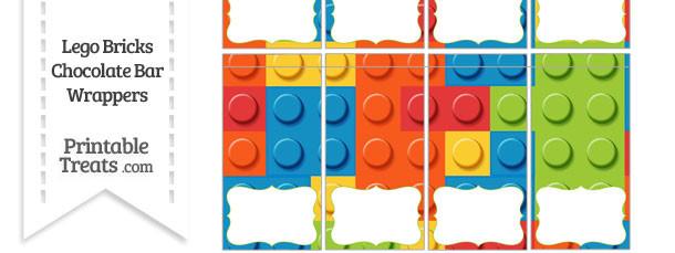 Lego Bricks Mini Chocolate Bar Wrappers